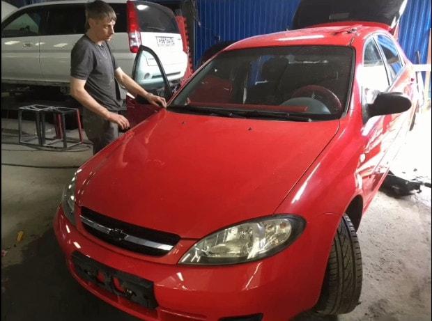 Фото Chevrolet после покраски переднего бампера в АвтосервисПрофи