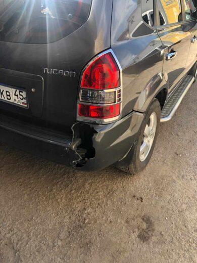Hyundai ремонт разлома заднего бампера