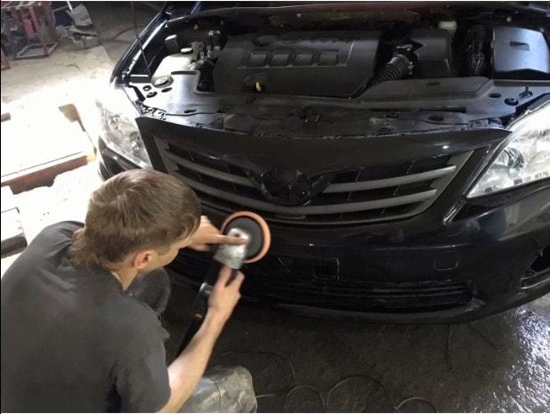 Фото полировки бампера после ремонта и покраски