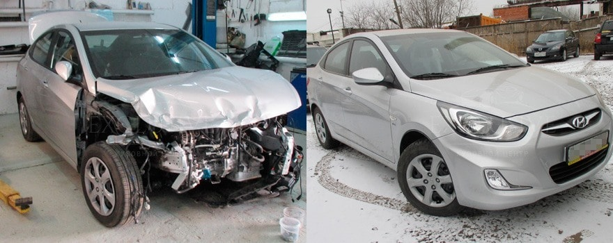 Фото авто до и после кузовного ремонта