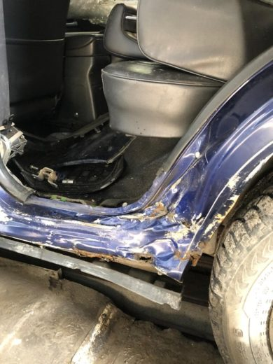 Восстановление порога Suzuki Grand Vitara