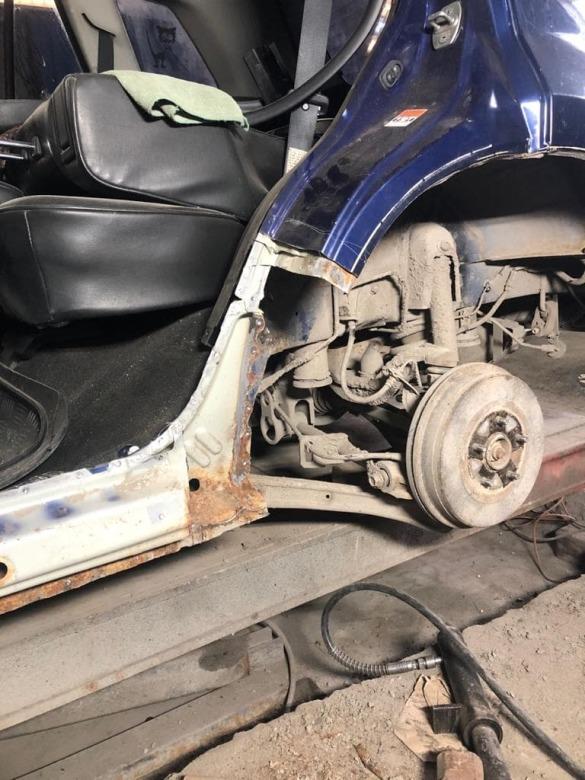 Фото процесса восстановления порога Suzuki