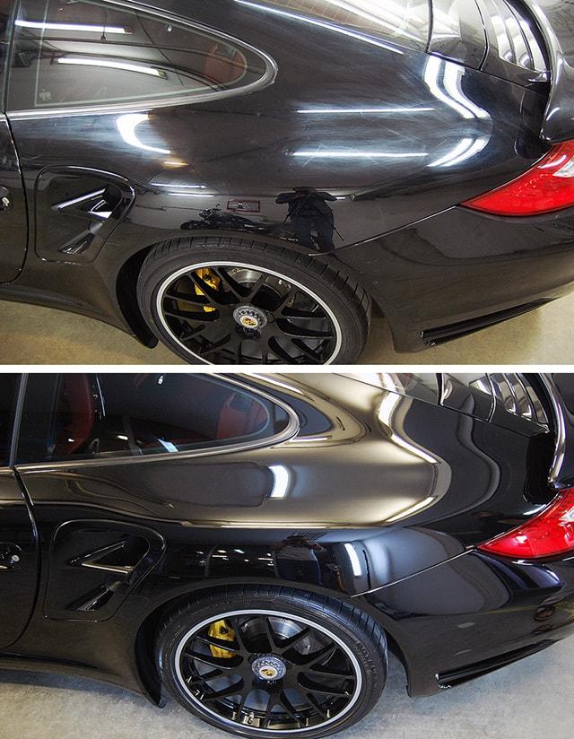 Фото примера восстановительной полировки авто