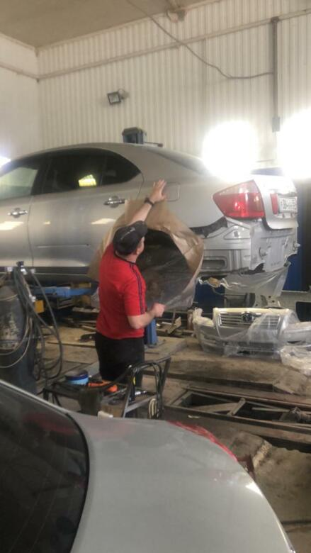 Фото процесса ремонта колесных арок