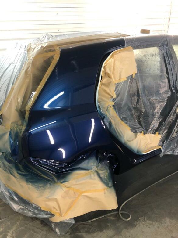 Фото процесса покраски кузова авто