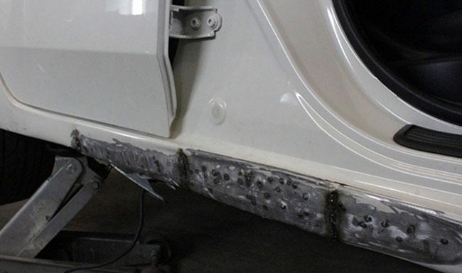 Фото ремонта съемных порогов
