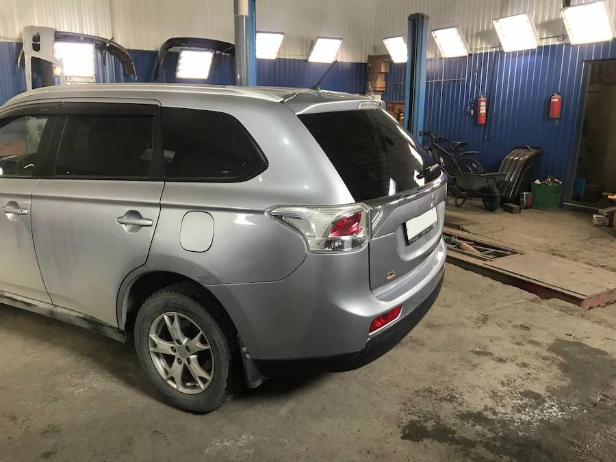 Фото кузовного ремонта и покраски Mitsubishi Outlander