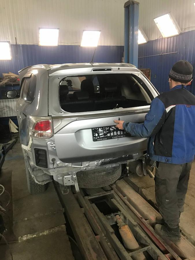 Фото установки новых и восстановленных деталей Mitsubishi Outlander